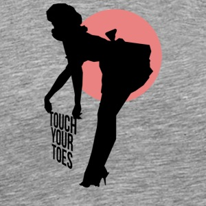Vintage Girl - Touch Your Toes! - Men's Premium T-Shirt