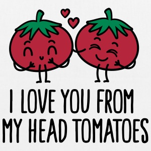 I love you from my head tomatoes Bags & Backpacks - EarthPositive Tote Bag