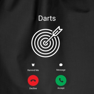 Darts Gets! Bags & Backpacks - Drawstring Bag