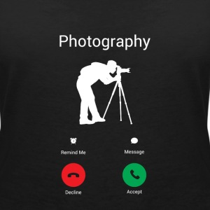 Fotografie is belt me! T-shirts - Vrouwen T-shirt met V-hals