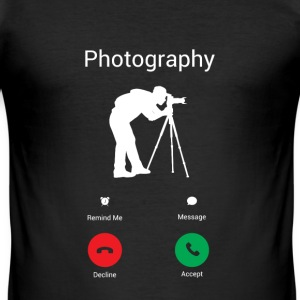 Photography is calling me! T-Shirts - Men's Slim Fit T-Shirt
