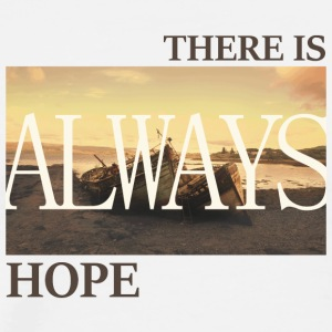There_is_always_hope_slim_picture_natural - Männer Premium T-Shirt