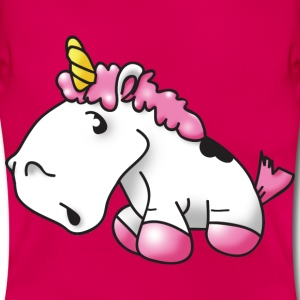 llittle unicorn Einhorn pink rosa - Frauen T-Shirt
