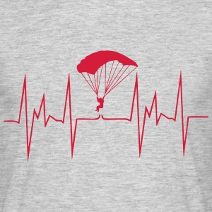heartbeat skydiving - Men's T-Shirt