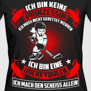 Hockey Queen - Nicht Prinzessin T-Shirts - Frauen Bio-T-Shirt