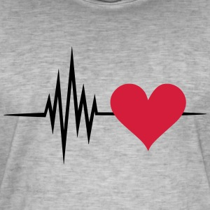 Pulse, frequency, heartbeat, I Love you heart rate T-Shirts - Men's Vintage T-Shirt