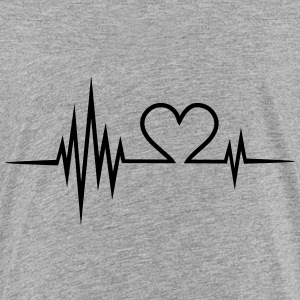 Pulse, frequency, heartbeat, Valentines Day, heart Shirts - Teenage Premium T-Shirt
