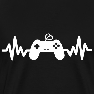 Game is life - geek gamer nerd gaming  - Männer Premium T-Shirt