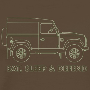 Eat Sleep Defend - Premium-T-shirt herr