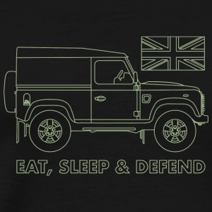 Eat, sleep & defend - Premium-T-shirt herr
