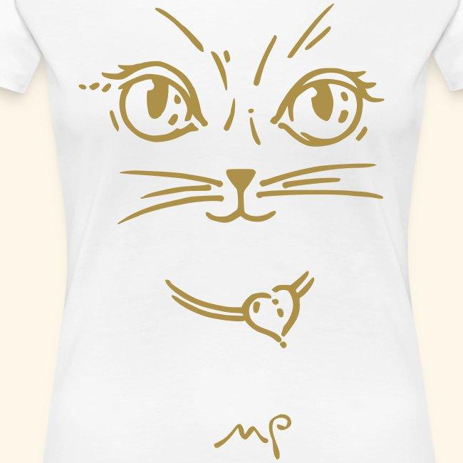 Katzendame goldig