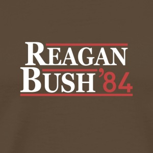 Vintage 80s Reagan Bush 84 Republican Political - Premium-T-shirt herr