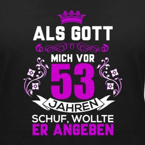 53 birth day T-Shirts - Women's V-Neck T-Shirt