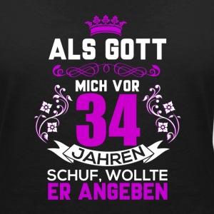 34 birthday T-Shirts - Women's V-Neck T-Shirt