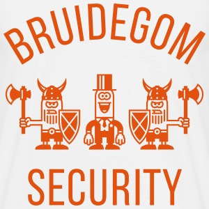 Bruidegom Security Vikingen (Vrijgezellenfeest 1C) T-shirts - Mannen T-shirt
