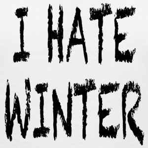 I hate winter T-Shirts - Women's V-Neck T-Shirt