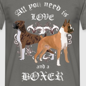 All you need is love and a boxer - Men's T-Shirt