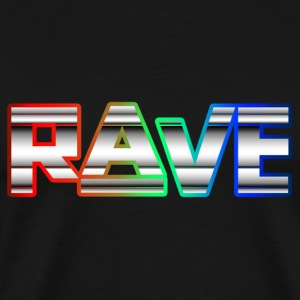 Rave Neon Rainbow Psy Text Techno Family T-Shirts - Männer Premium T-Shirt