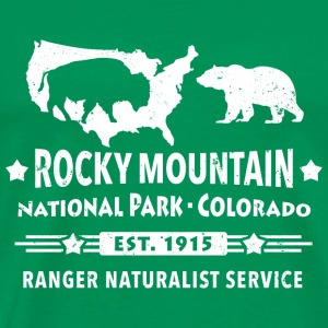 Rocky Mountain Nationalpark Berge Bison Grizzly T-Shirts - Männer Premium T-Shirt