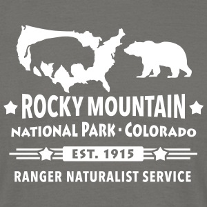 Rocky Mountains Bison Indianer Büffel Grizzlybär - Männer T-Shirt