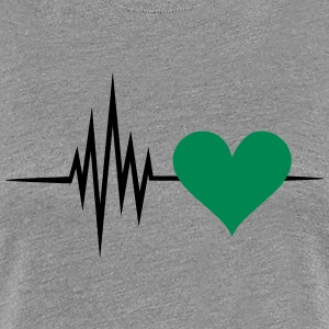 Pulse, frequency, heartbeat, vegan heart rate T-Shirts - Women's Premium T-Shirt