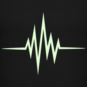 Pulse, frequentie, hartslag, muziek, heartbeat, DJ Shirts - Teenager Premium T-shirt