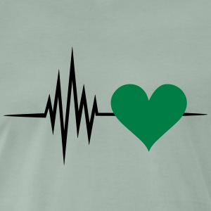 Pulse, frequency, heartbeat, vegan heart rate T-Shirts - Men's Premium T-Shirt