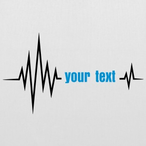 Your text pulse, frequency, heartbeat, party music Torby i plecaki - Torba materiałowa