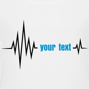 Your text pulse, frequency, heartbeat, party music Shirts - Kids' Premium T-Shirt