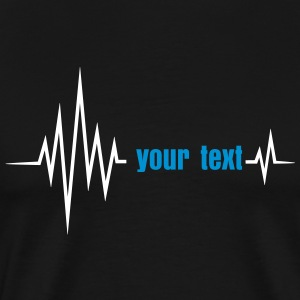 Dein Text Puls, Frequenz, Herzfrequenz, I love you T-Shirts - Männer Premium T-Shirt