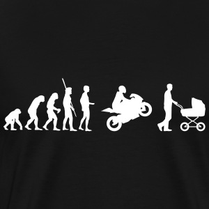 Evolution motorcycle with stroller T-Shirts - Men's Premium T-Shirt