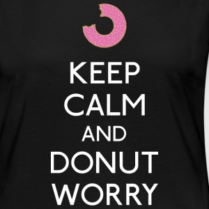 Keep Calm Donut worry Long Sleeve Shirts - Women's Premium Longsleeve Shirt