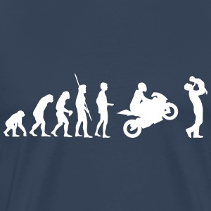 Evolution motorcycle with father and child T-Shirts - Men's Premium T-Shirt
