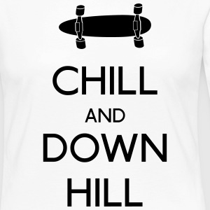 Chill and downhill Long Sleeve Shirts - Women's Premium Longsleeve Shirt