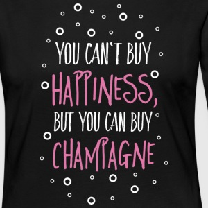 Cant buy happiness, but champagne Long Sleeve Shirts - Women's Premium Longsleeve Shirt