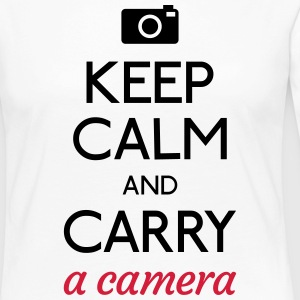 keep calm and camera mantener la calma y la cámara Camisetas de manga larga - Camiseta de manga larga premium mujer