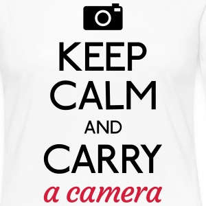 keep calm and camera Long Sleeve Shirts - Women's Premium Longsleeve Shirt