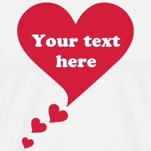 Bulle coeur, speech bubble, je t'aime, I love you Tee shirts - T-shirt Premium Homme