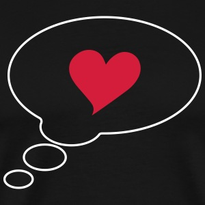 Text bubble heart, comic bubble, speech bubble,  T-Shirts - Men's Premium T-Shirt