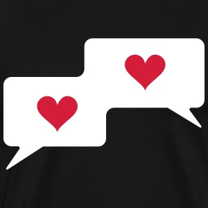 Text bubble hearts, comic bubble, speech bubble,  T-Shirts - Men's Premium T-Shirt