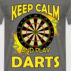 Keep calm and play darts - Men's T-Shirt