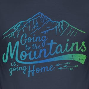 Going to the Mountains - Männer Slim Fit T-Shirt