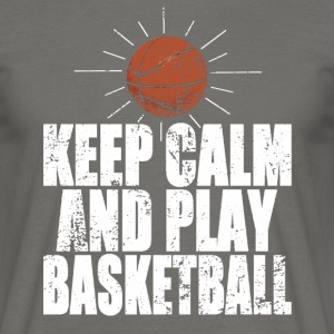 Keep Calm And Play Basketball Tee shirts - T-shirt Homme