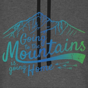 Going to the Mountains - Unisex Baseball Hoodie