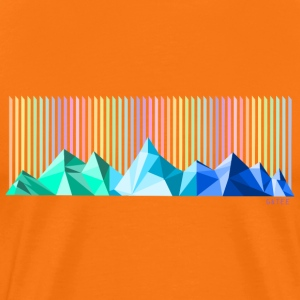 Mountain rainbow mens orange - Men's Premium T-Shirt