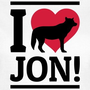 I love Jon T-Shirts - Frauen T-Shirt