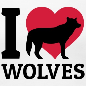 I love wolves T-Shirts - Women's Premium T-Shirt