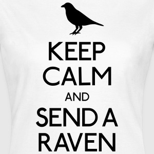 Keep Calm Raven T-shirts - Dame-T-shirt