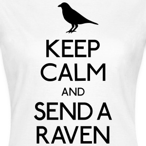 Keep Calm Raven T-skjorter - T-skjorte for kvinner