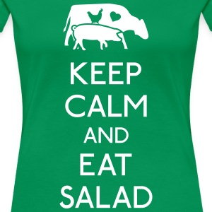 Keep Calm eat salad T-Shirts - Women's Premium T-Shirt